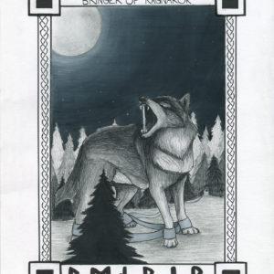 Finished scanned image of the fenrir illustration