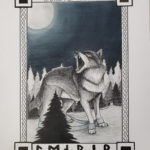 Finished image of the fenrir illustration