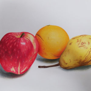 Realistic fruit illustration