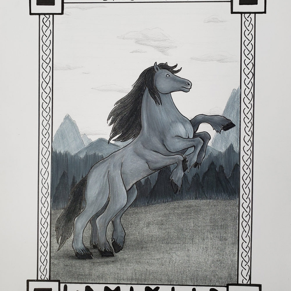 Final image of the sleipnir illustration