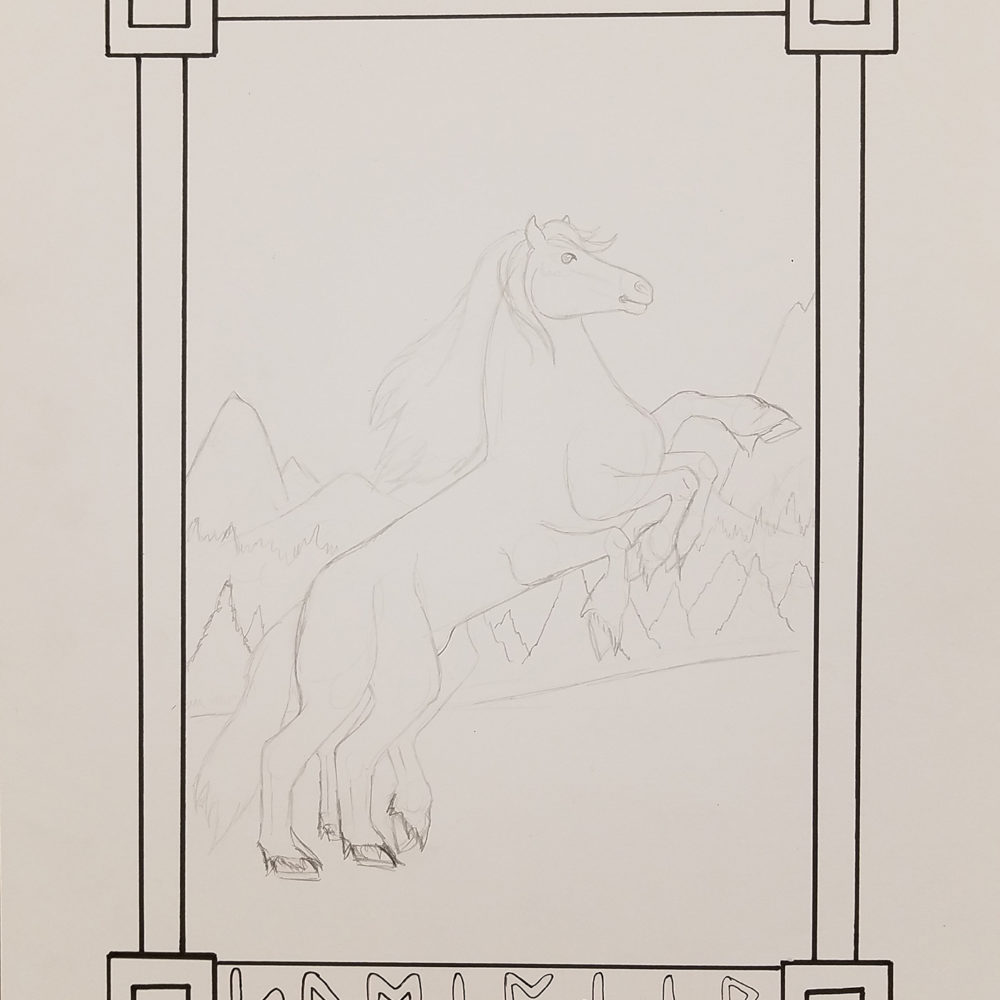 Sleipnir-pencil image